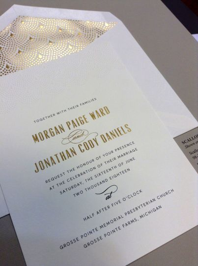 Beautiful gold fonts with gold foil liner