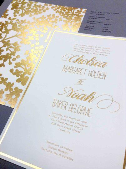 Beautiful invitation front & back