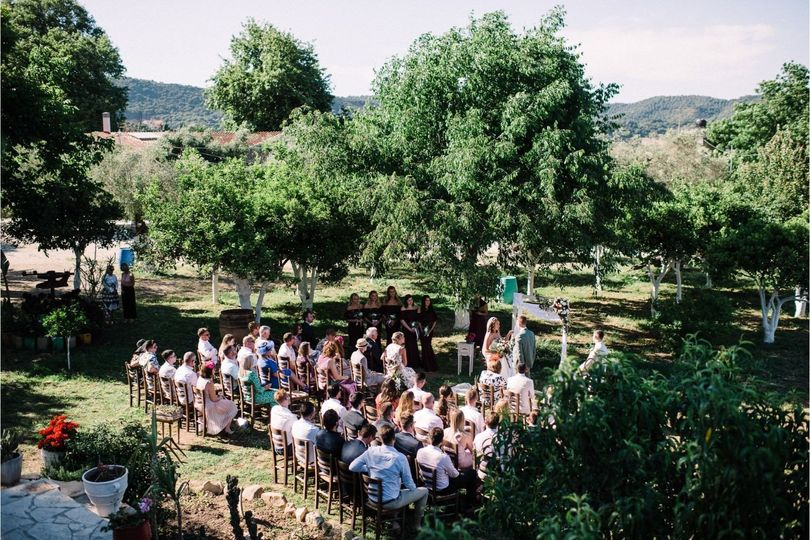Wedding At Winery Courtyard
