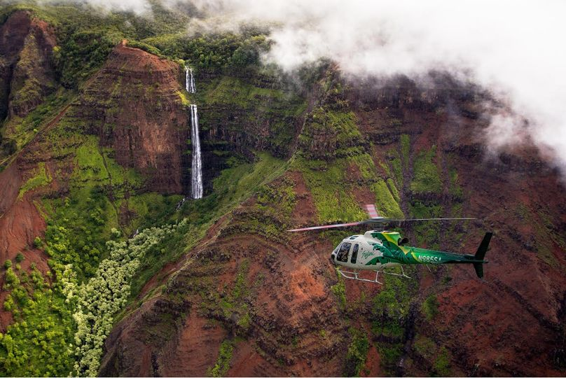 Helicopter tour in Hawaii