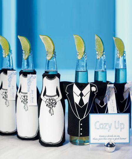 Bride and Groom Bottle Holder