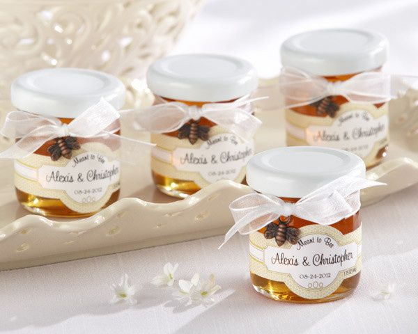Meant to Bee Personalized Clover Honey Favor Jars