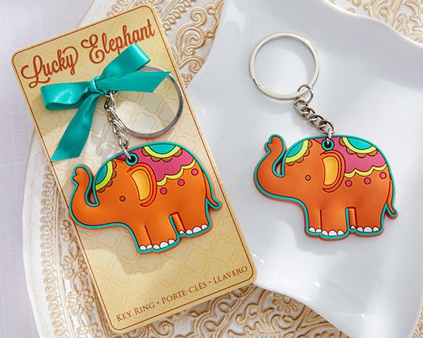 Lucky Elephant Key Ring for Indian Wedding Favors
