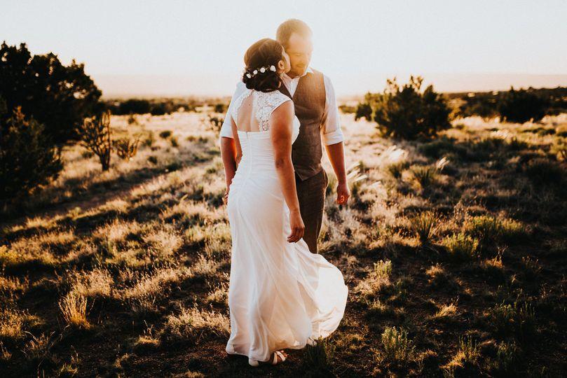 Sandia Mountains outdoor wedding.