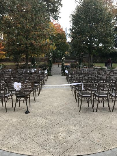 Greystone front plaza outdoor ceremony location