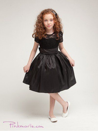 Black Elegant Laced Bodice Trimmed Girl Dress Price: $37.99 Product Code: PP1216BBK Absolutely...