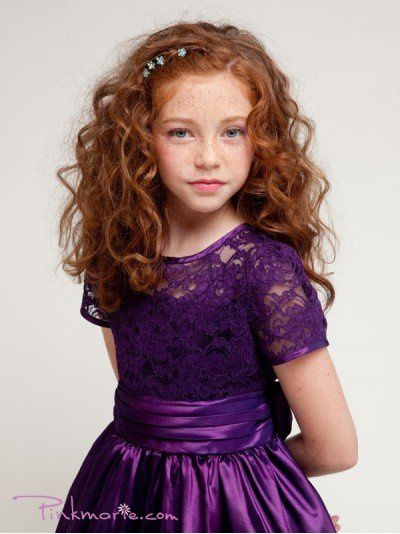 Purple Elegant Laced Bodice Trimmed Girl Dress Price: $37.99 Product Code: PP1216BPP Absolutely...