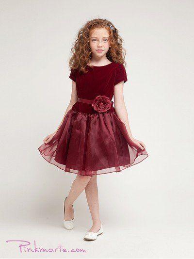 Burgundy Stretch Velvet Bodice Flower Girl Dress Price: $45.99 Product Code: PP1215BBG Absolutely...