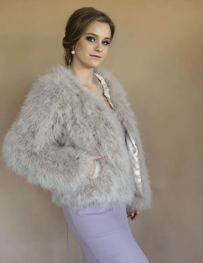 California Marabou Feather Jacket - Limited Edition Pearl