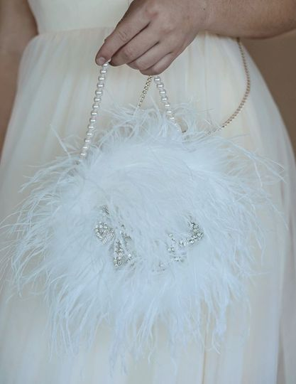 Ostrich Feather Tote in Ivory - Limited Edition