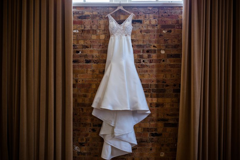 The dress hanging
