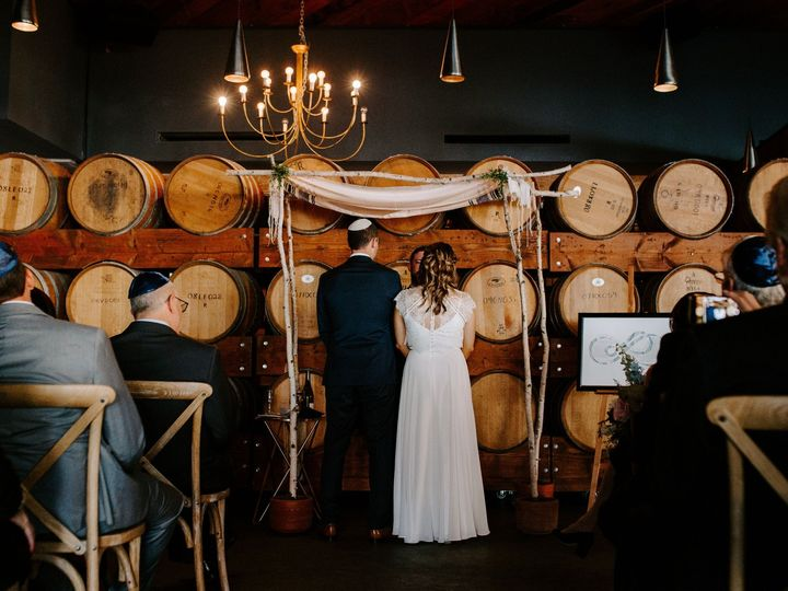 Tmx Barrel Wall Ceremony Madera Kitchen 51 1016631 1555624537 Los Angeles, CA wedding venue