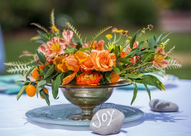 Lovely centerpieces by Terra Malia Designs