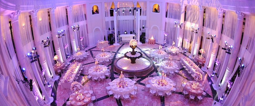 Chic wedding with up lighting package