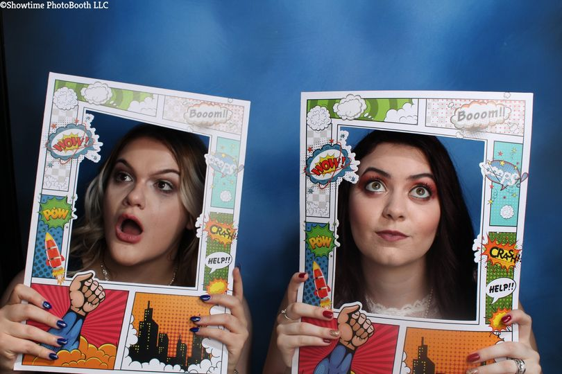 Comic book photo booth props