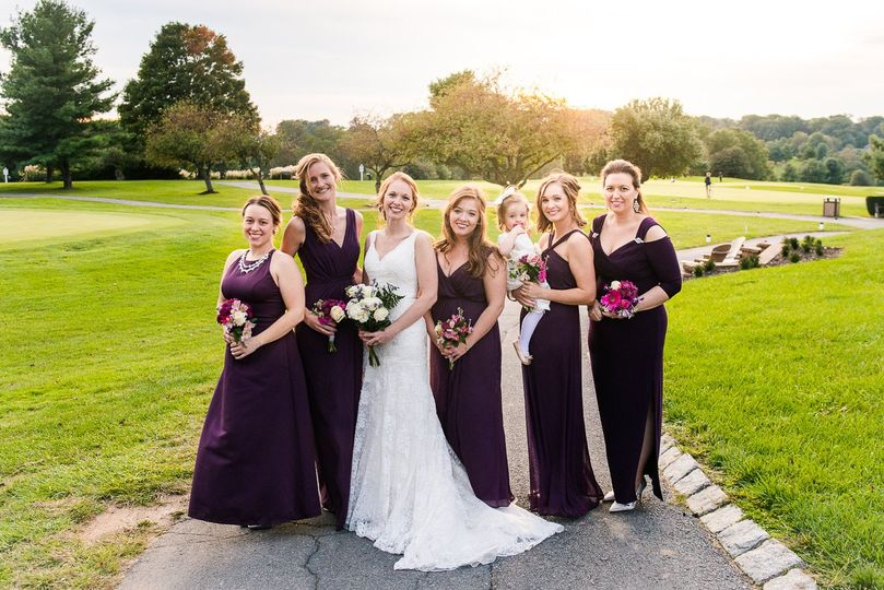 emily annette photography northern virginia nova wedding photographer holly hills country club maryland bridal party portrait golden hour sunset 51 999631