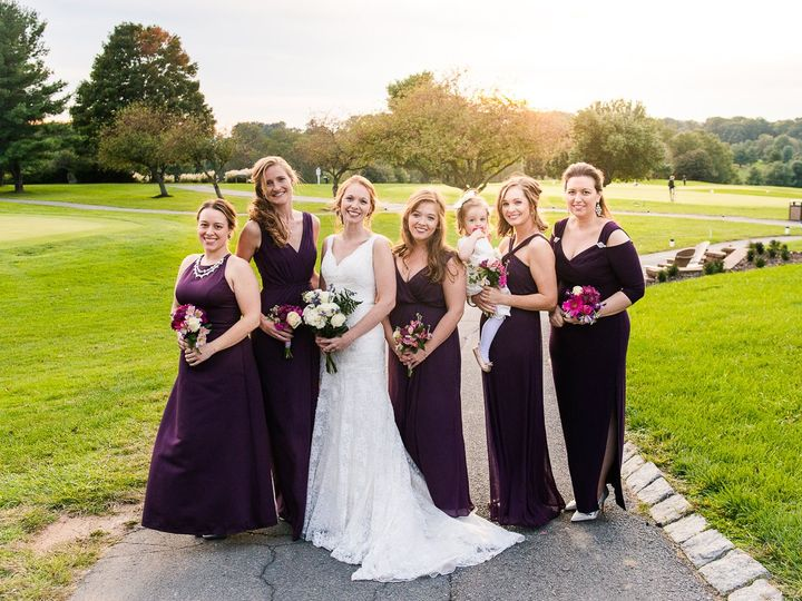 Tmx Emily Annette Photography Northern Virginia Nova Wedding Photographer Holly Hills Country Club Maryland Bridal Party Portrait Golden Hour Sunset 51 999631 Fairfax, VA wedding photography