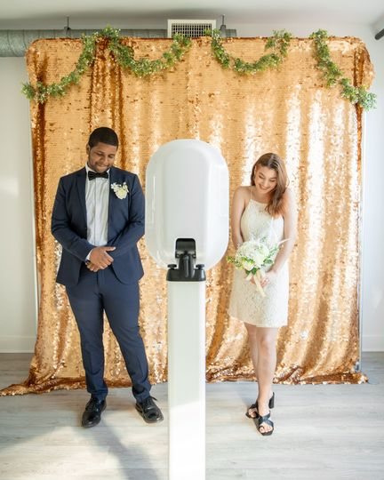 Newlywed's photo booth time