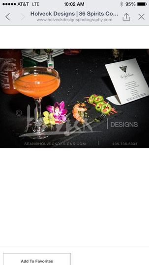 Competition Drink Called The Fifth Element (Sweet Red Pepper Martini)
