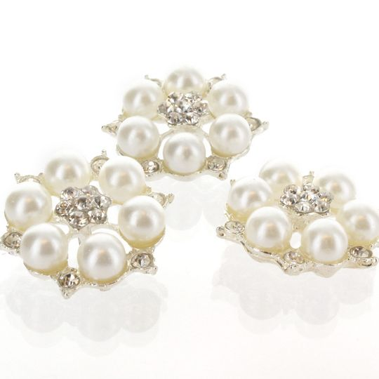 embellishment center pearls rhinestones