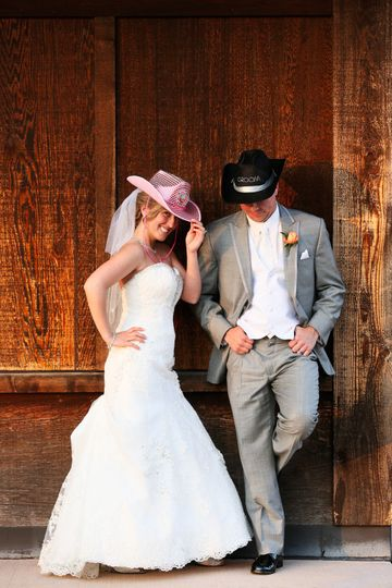 cowgirl and a groom