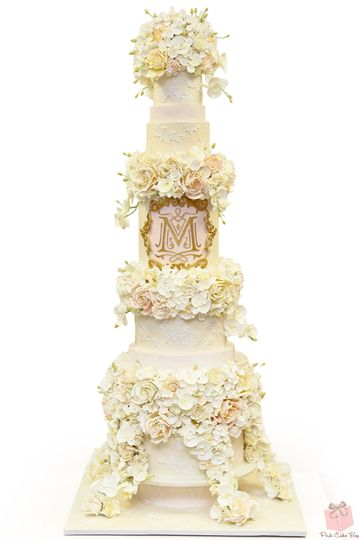 8a50458d2ed6f9ce towering floral wedding morgan cake2848