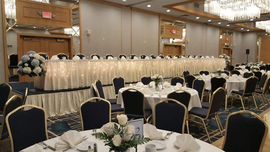 Sophisticated wedding reception set up