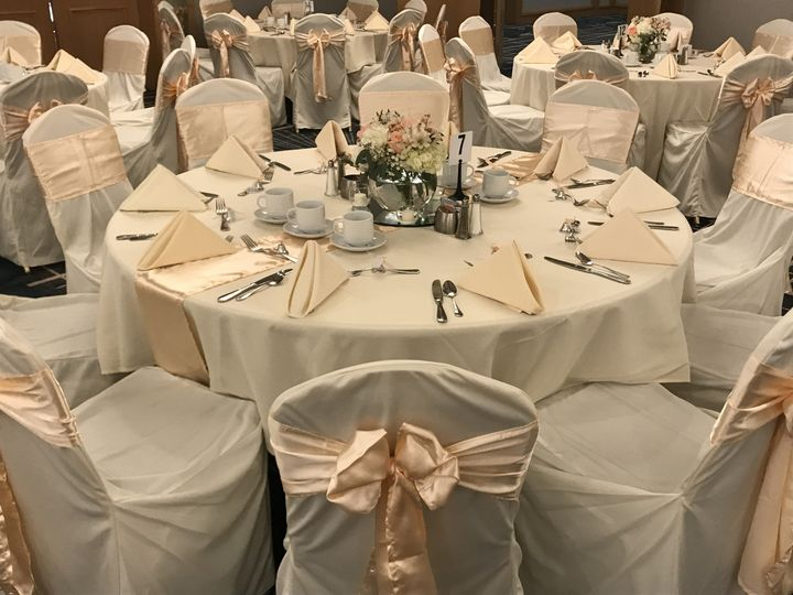 Beige-themed table set up