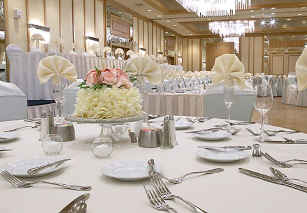Elegant table set up at the ballroom area