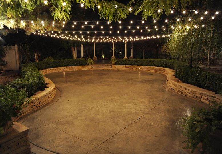 Dance floor under the lights