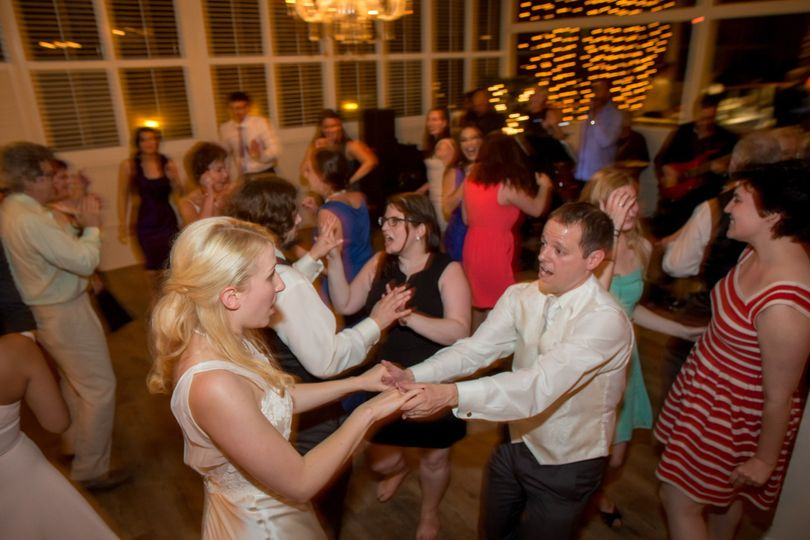 Dancing at Thias and Chad's wedding in 2015