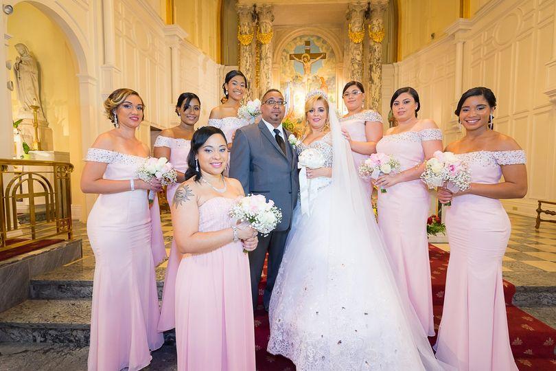 Church bridal party
