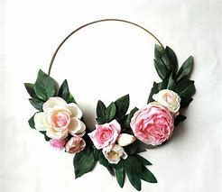 "Peony and rose bridesmaid hoop ""bouquet"""