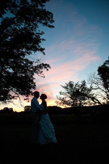 bride groom sunset profile lewisburg