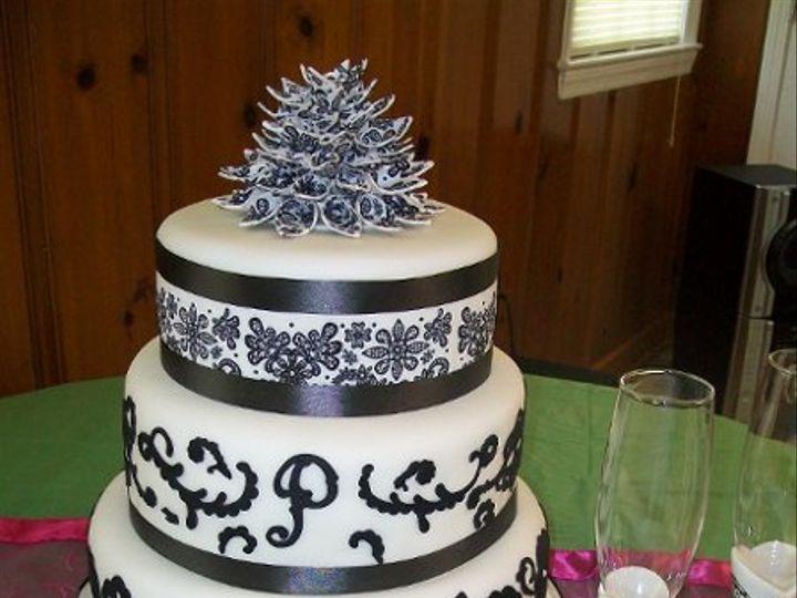 Tmx 1309377090054 BlackWhite Stedman wedding cake