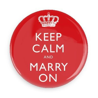 keep calm marry on button cop
