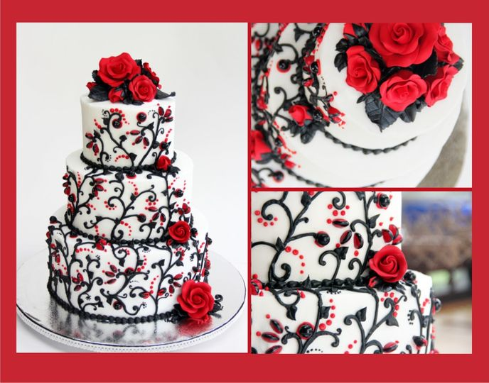 Sugar roses and M&M accents adorn this buttercream beauty