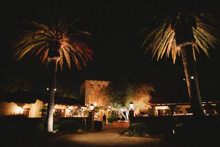 Evening lights at the courtyard