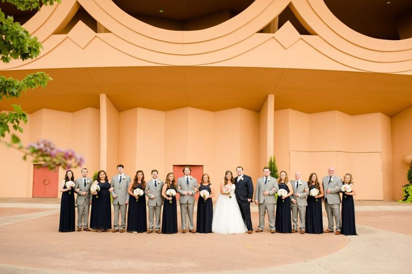 Bridal Party outside BCC