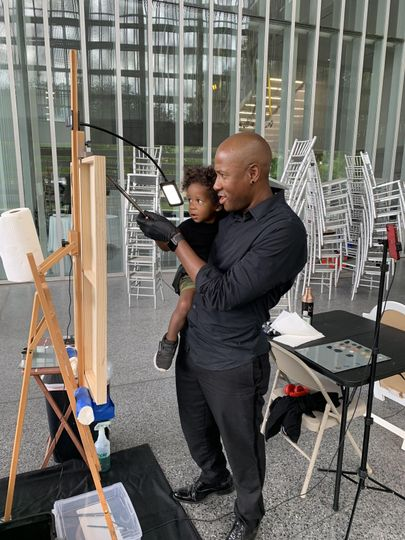 Setting up with my son!