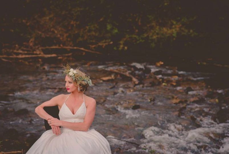 Bride by the river