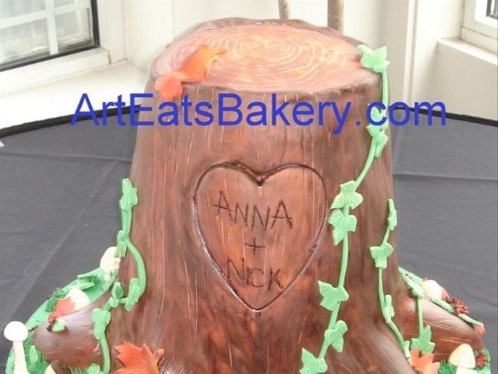 Tmx 1255044377411 Fondanttreestumpweddingcakewithleavesmushroomsandivy Greenville wedding cake