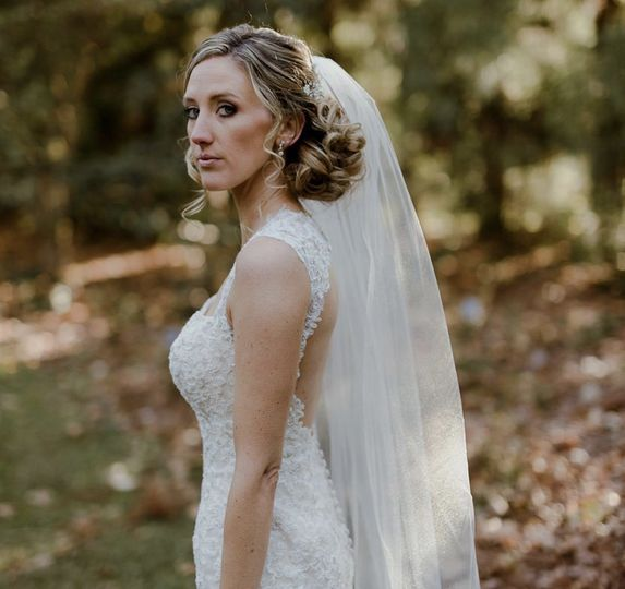 Bride side view