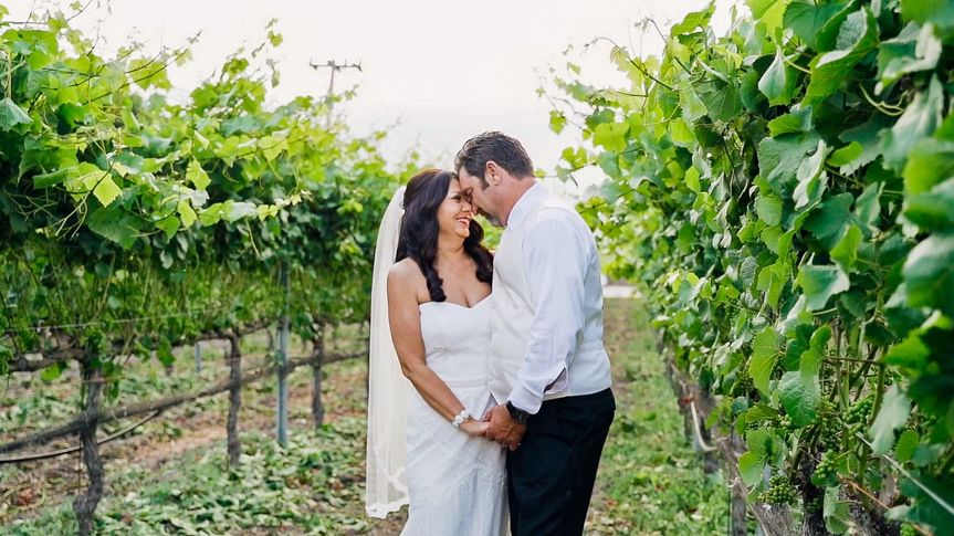 Intimate Moment in Vineyard