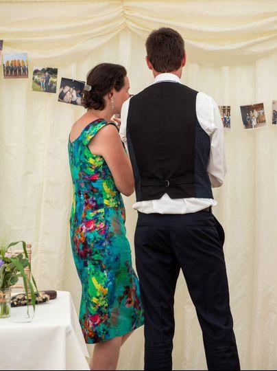 Wedding guests at reception
