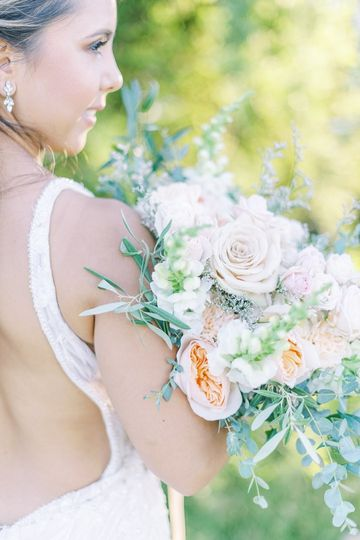 The bride and bouquet
