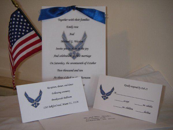 Military Wedding Invitations Marine Invite Air Force