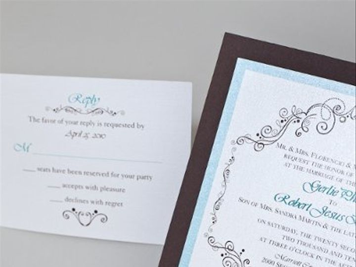 Tmx 1310420214929 InviteInk002 Brea wedding invitation