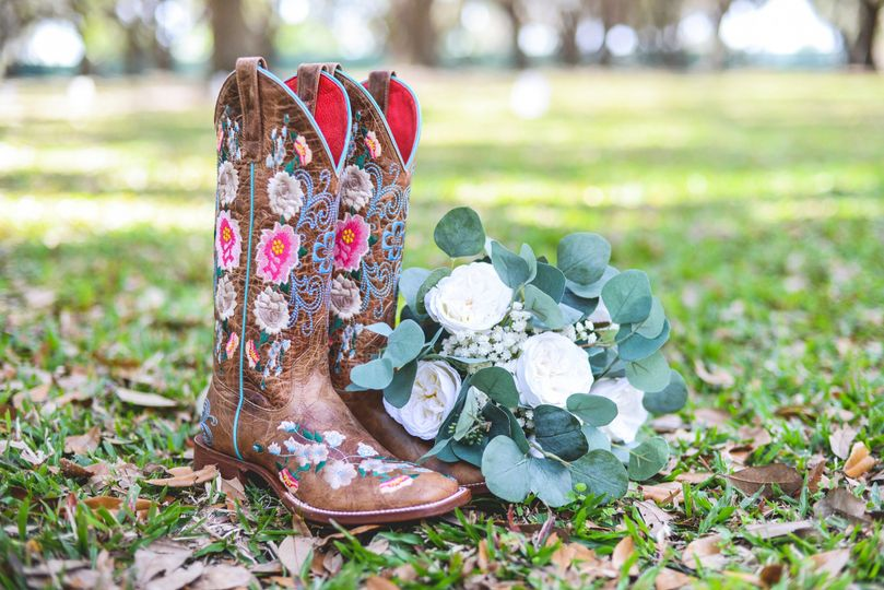 Boots, flowers, and sunshine