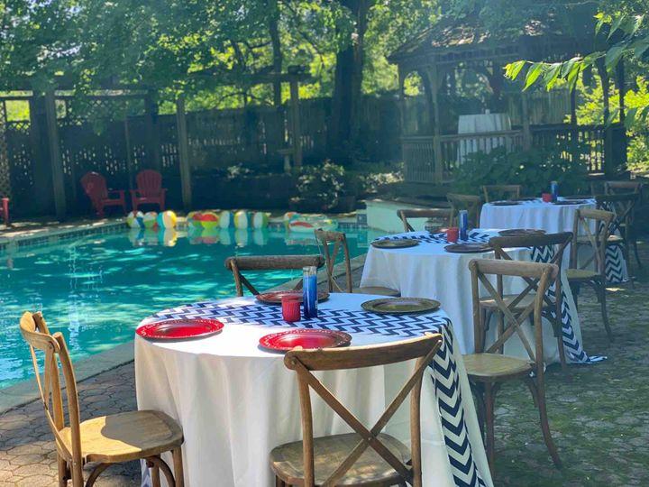 Poolside dining option